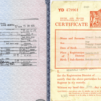 Difference between long and short birth certificate