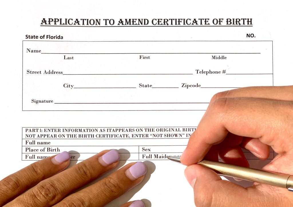 Gender Change Birth Certificate