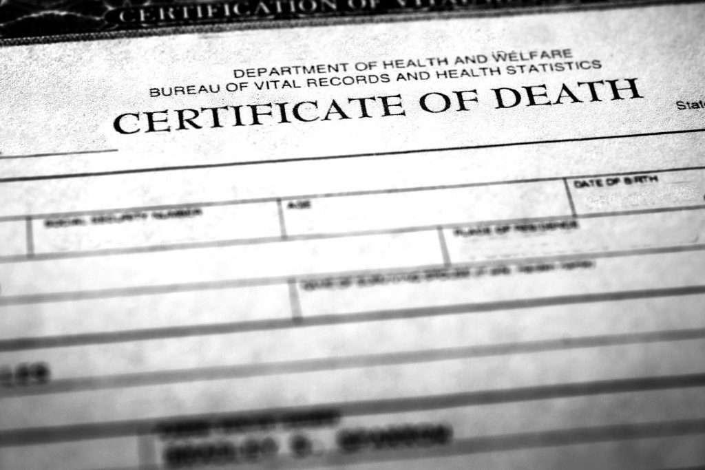 Copy of Death Certificate